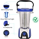 DOCOSS-ABS Rechargeable Emergency Lights for Home 84 PC led Solar Light SMD Led High Power Lantern (Red Or Blue)