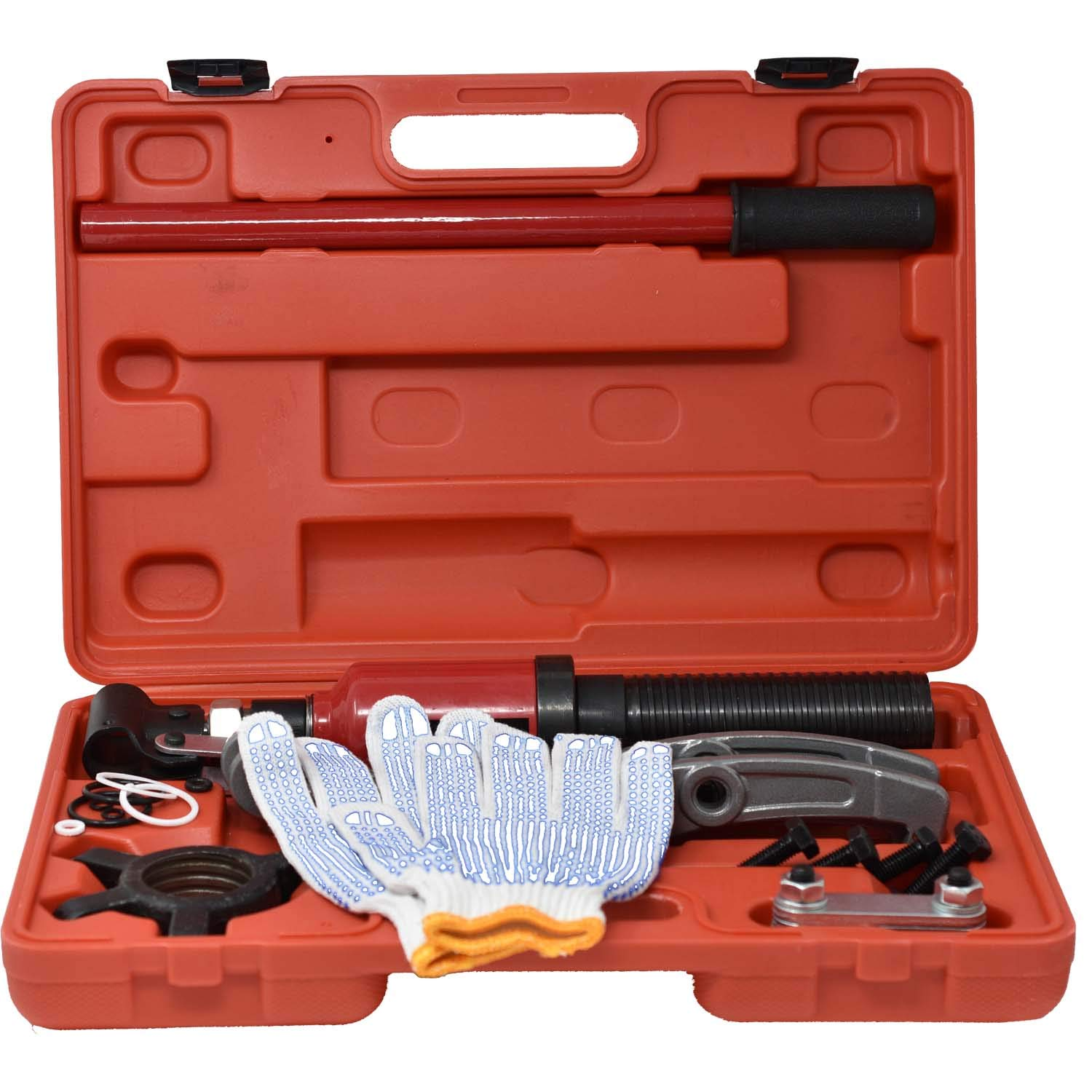 5 Ton 3 Jaw Hydraulic Gear Puller, Wheel Bearing Hub Removal Tool with Work Gloves and Storage Box by Chromex Tools (Image #2)