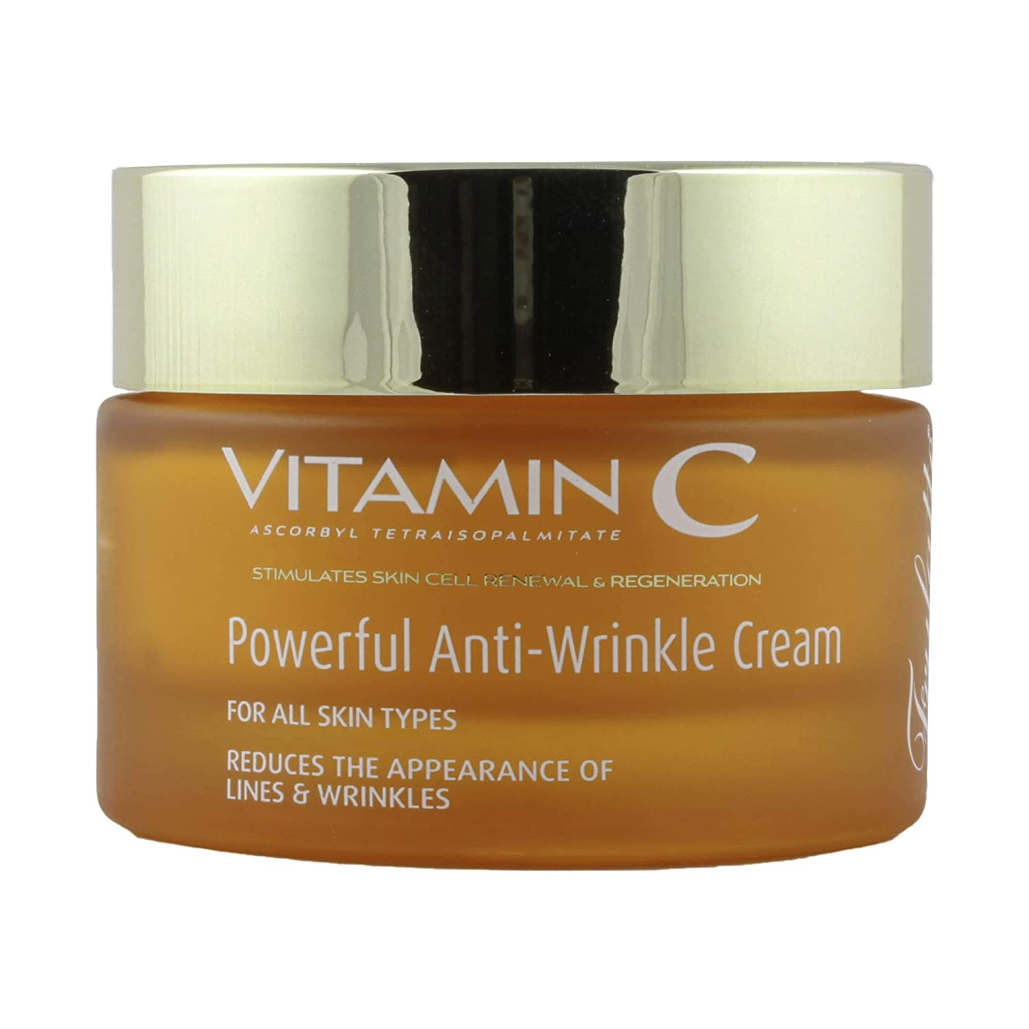 Frulatte Powerful Anti Wrinkle Cream enriched with Vitamin C for All Skin Types 1.7 fl. Oz.