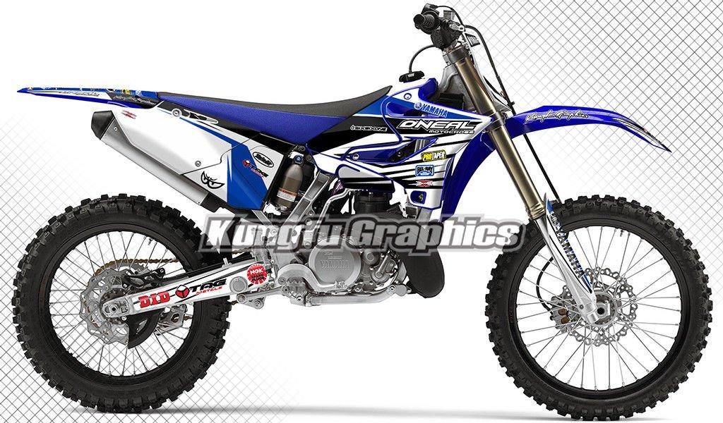 White Blue Kungfu Graphics Custom Decal Kit for Yamaha YZ250X 2016 2017 2018 2019 2020 Style 012