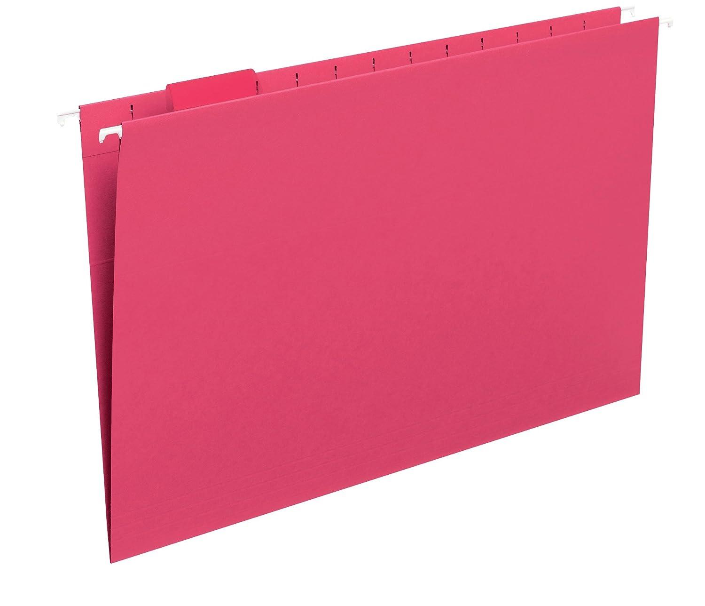 Smead Hanging File Folder, 1/5-Cut Adjustable Tab, Legal Size, Assorted Colors, 25 per Box (64156)