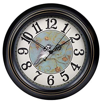 SLH Reloj de Pared Retro Mudo Europeo Sala de Estar Simple Cuadro Antiguo Colgante Europeo Reloj nórdico nostálgico de los países nórdicos (Size : L): ...