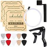Ukulele Strings, Yoklili 5 Sets of Nylon Ukulele Strings with 10 Felt Picks, String Winder for Soprano (21 Inch) Concert…
