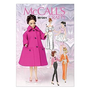 McCall\'s Patterns 7301 OS Kleidung für 11 1/2 Zoll Puppe ...