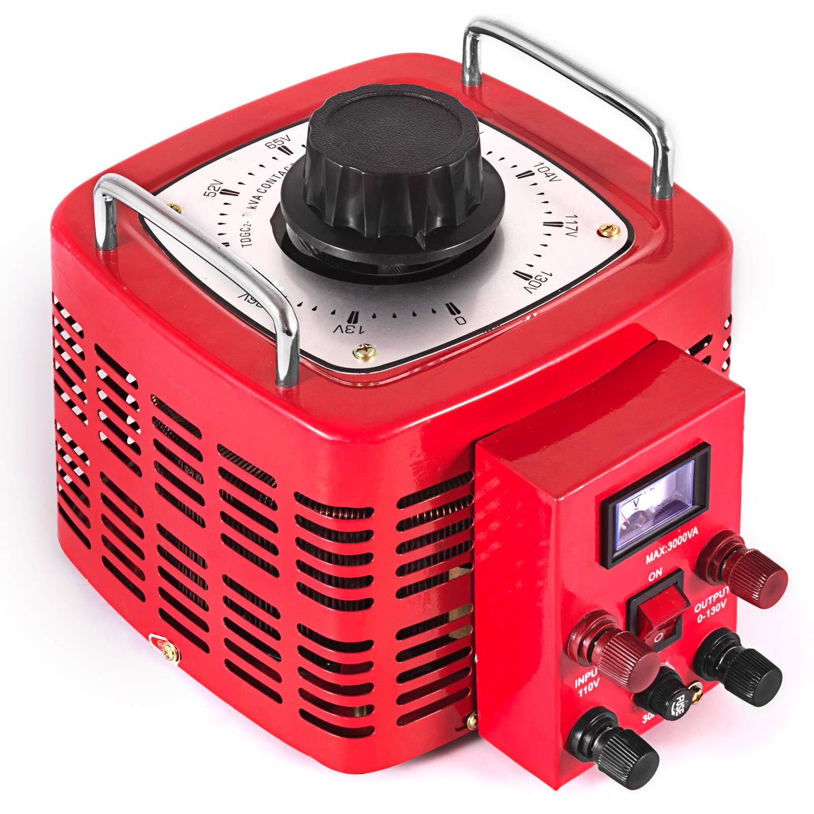 VEVOR 3KVA Transformer Max 30 Amp Variable Transformer 0~130 Volt Output Variable AC Voltage Regulator for Industries Equipment Appliances by VEVOR (Image #4)