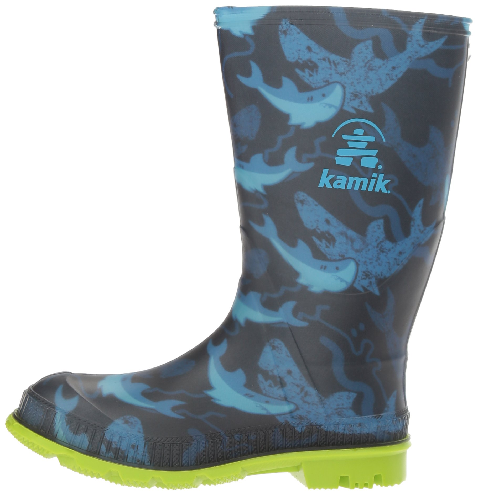 Kamik Boys' STOMP2/KIDS/CHA/4725 Rain Boot, Blue, 4 M US Big Kid by Kamik (Image #5)