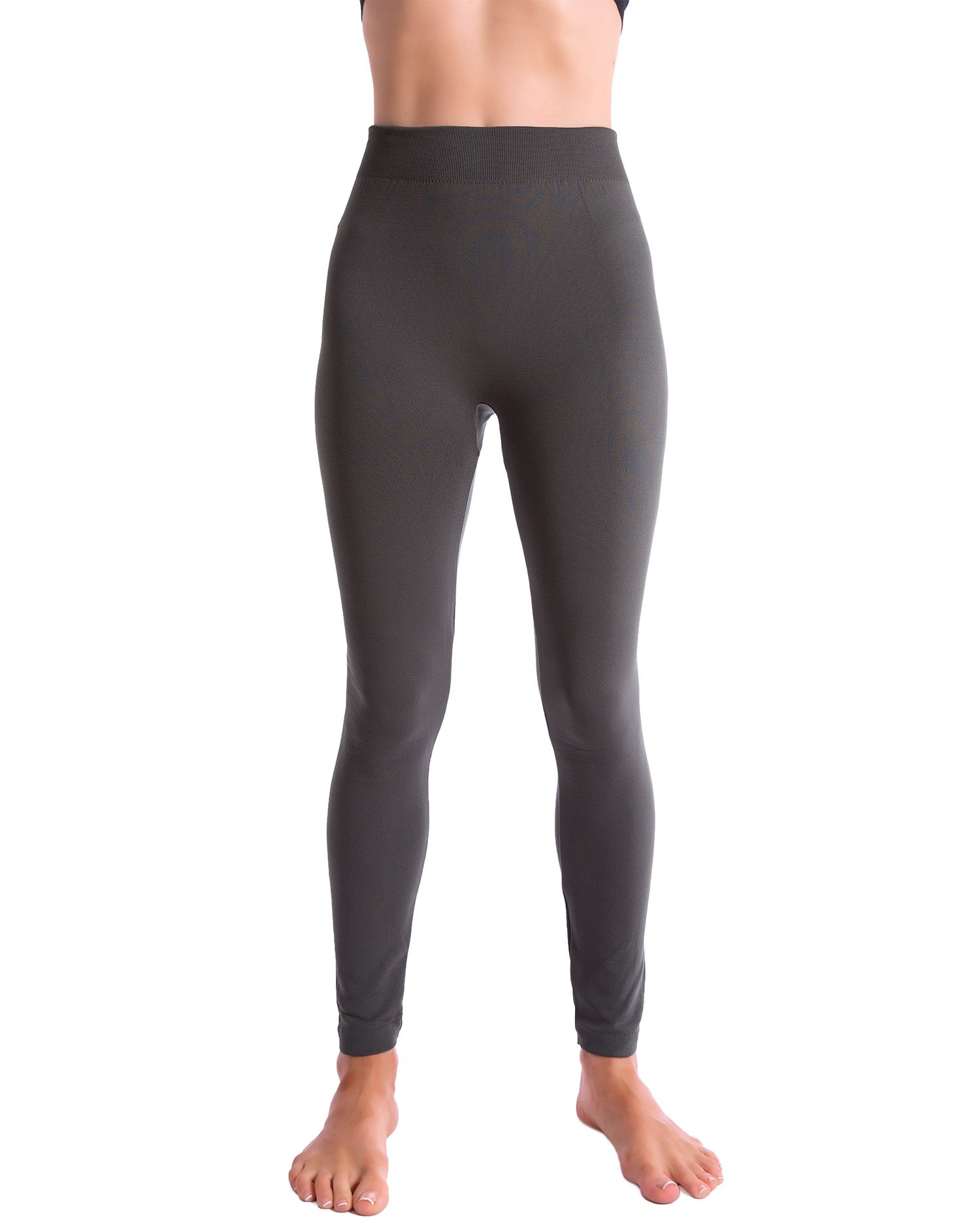 3-Pack Fleece Lined Thick Brushed Leggings by Homma (S/M/L, BLACK/NAVY/GREY) by Homma (Image #1)