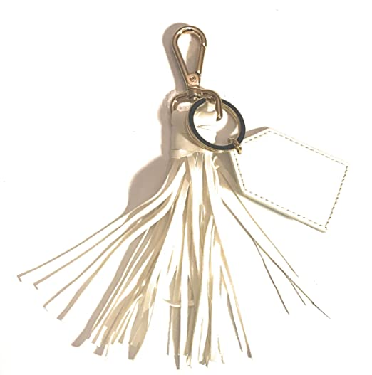 Women s Leather Tassel Charm Handbag Wallet Accessories Key Rings Keychain  Monogram f31110eec6
