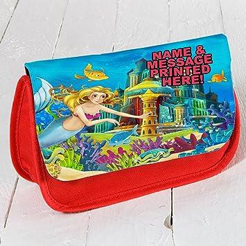 Personalizado Mermaid Castillo de Princesa st0121 Rojo ...