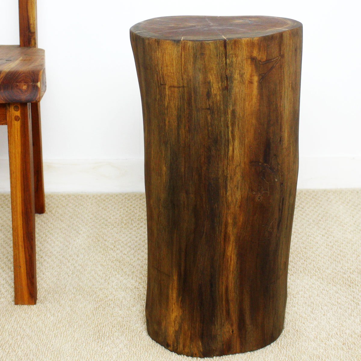 MagJo Teak Reclaimed Stump Style table or stool