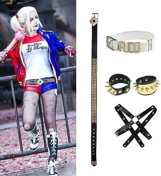 Harley Quinn Cosplay del Super Héroe De Accesorios, Cuero ...