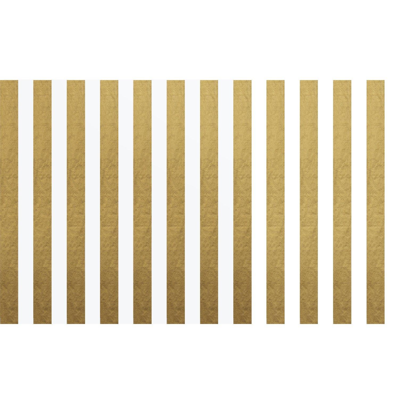 30 Feuilles Noir et Blanc Shappy Papier de Soie Stripes Papier Cadeau 28 Pouces par 20 Pouces