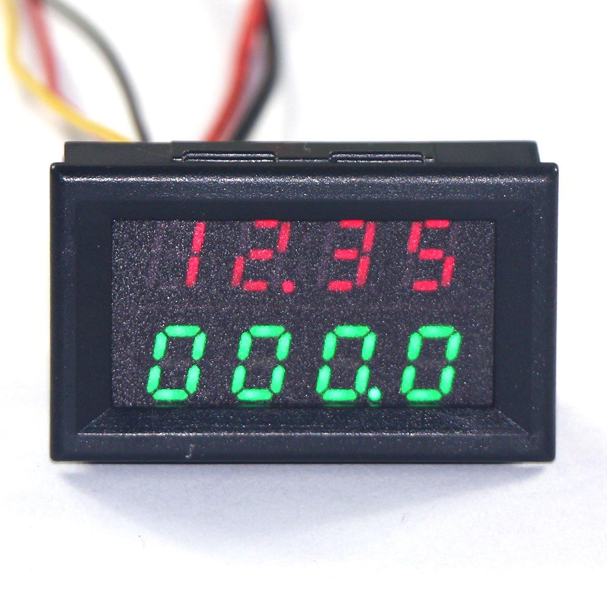 DROK&reg: Digital Voltmeter / Amperemeter DC 0-33V / 0-3A 12V 0 ...