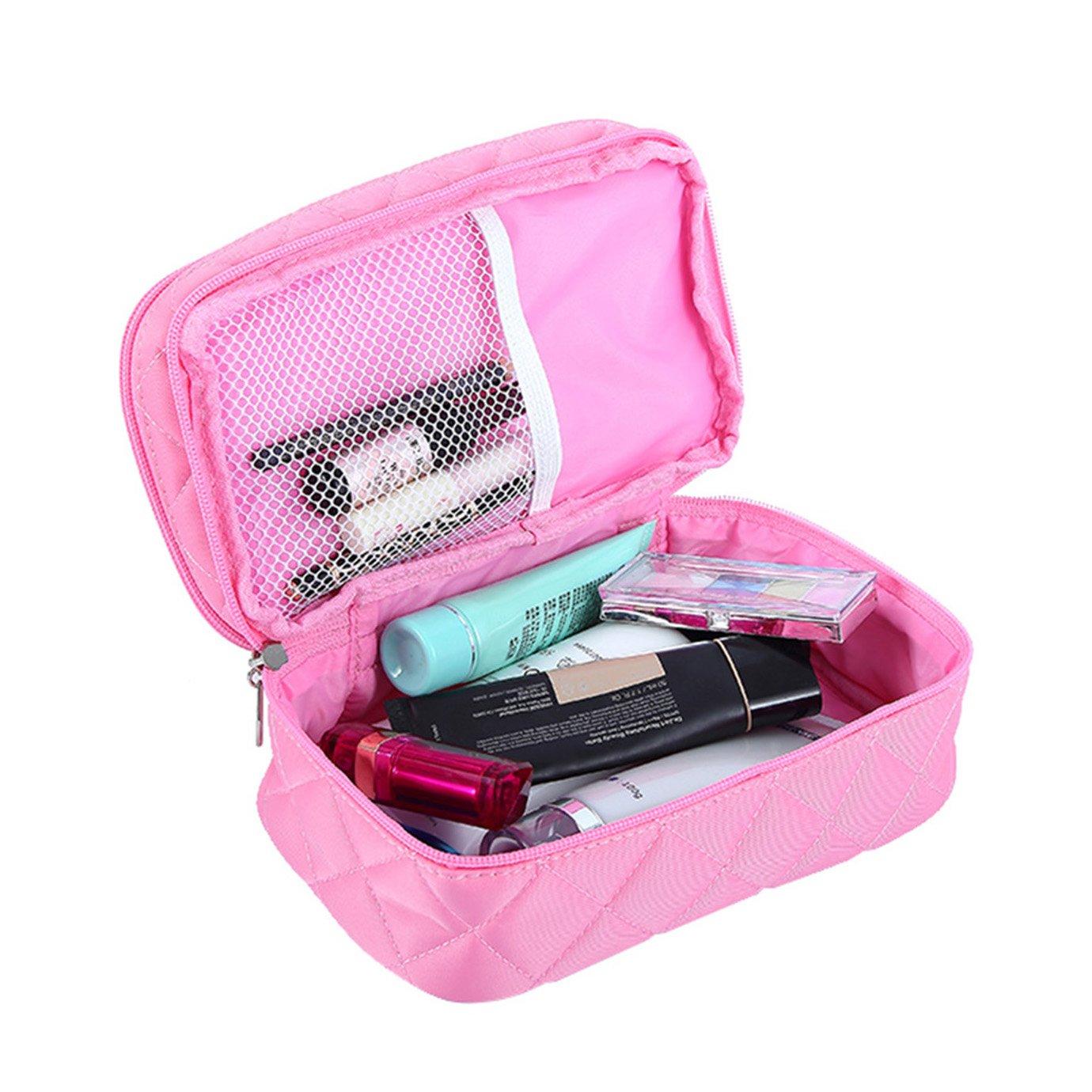 Amazon.com: Bolsa de maquillaje de doble cara HOYOFO para ...
