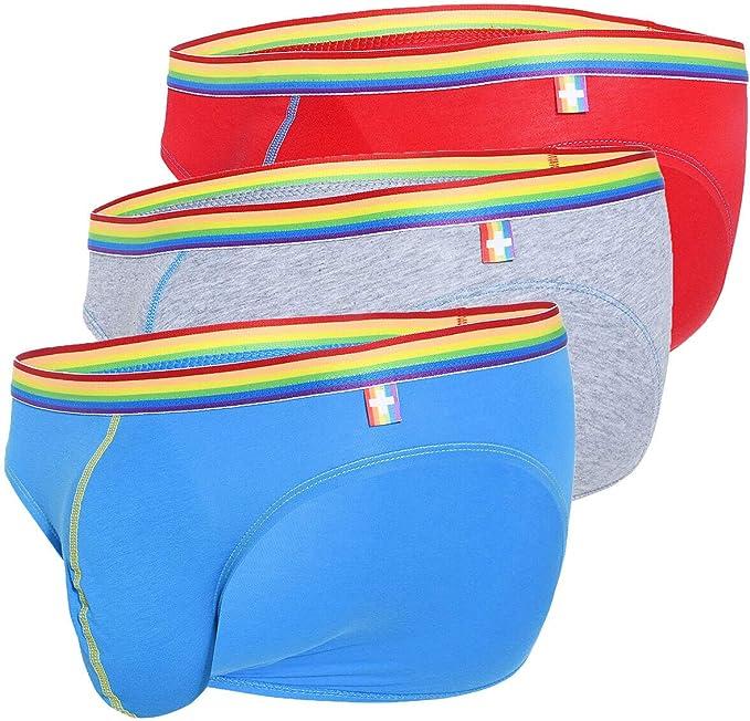 Andrew Christian Hombre Slip Pack de 3 Boy Brief Unicorn 3-Pack 91184, Multicolor S: Amazon.es: Ropa y accesorios