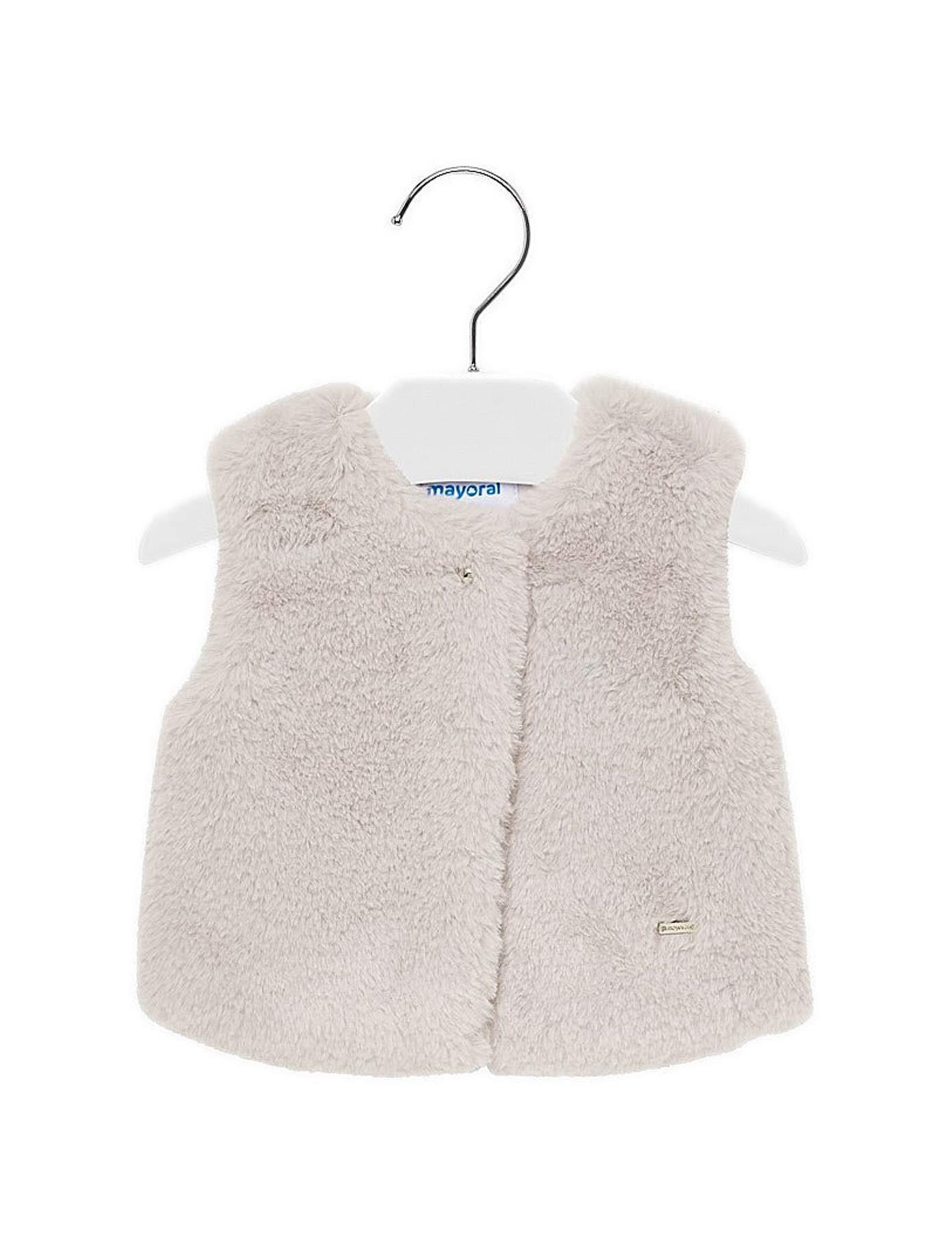 Mayoral 19-02317-075 - Fur Vest for Baby-Girls 12 Months Beige by Mayoral