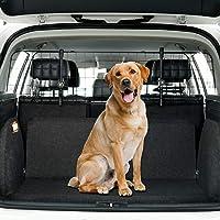 Toozey Reja Coche Perro Automóvil, SUV Universal - Rejilla Protectora con fijación para reposacabezas - Libro electrónico Ajustable y Gratuito
