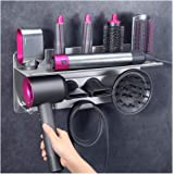 LandHope Hair Dryer Holder Wall Mount for Dyson Supersonic Hairdryer with Bathroom Storage Organizer Stainless Steel