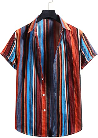 SCLDX Camisa Hawaiana para Hombre - Camisa De Playa De Verano ...