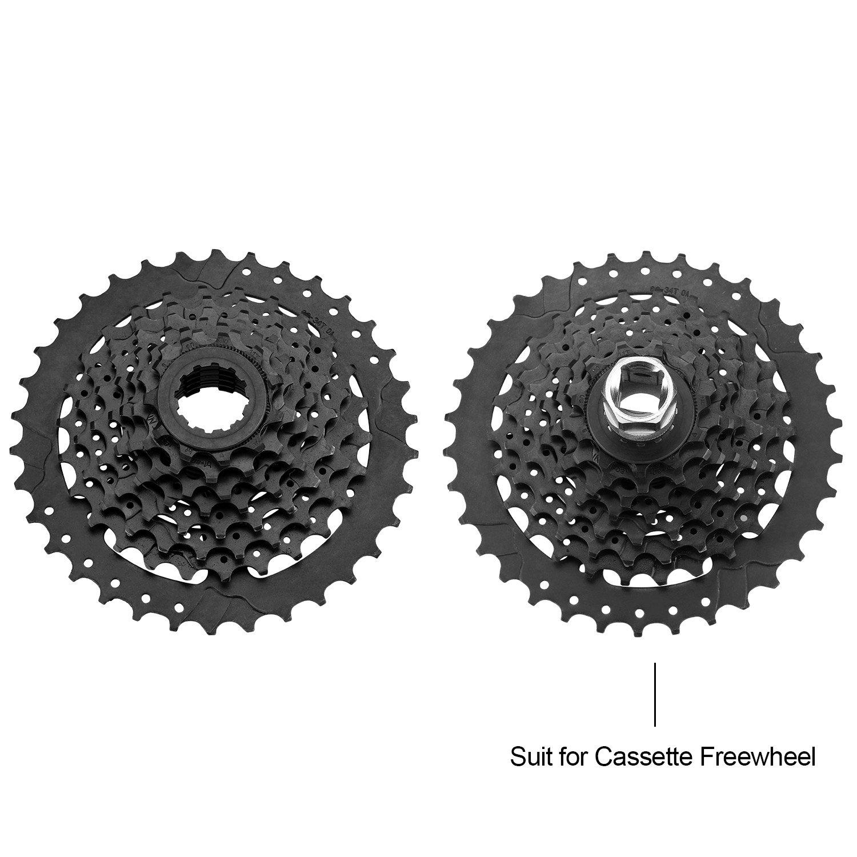 Oumers Kit attrezzi catena per bici,Chiave di rimozione e frusta per catena con pacchetto di strumenti di rimozione pignone catena a cassetta//bicicletta
