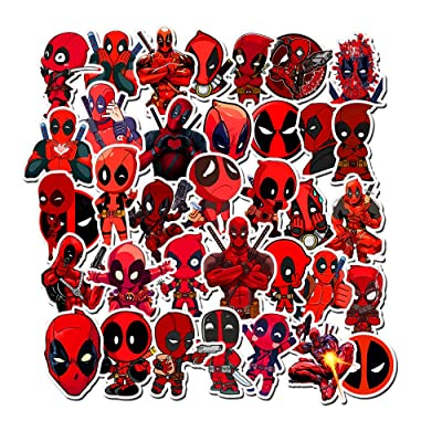 EQMZAD Deadpool Stickers for Water Bottles,Aesthetic Stickers for Teens,Girls,Kids,Laptop,Phone,Travel Extra Durable: Kitchen & Dining