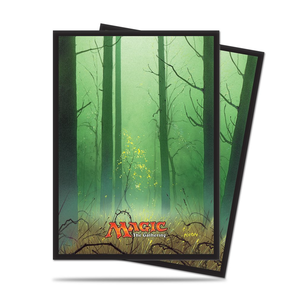 Ultra Pro Mana 5 Forest Standard Deck Protector sleeves for Magic 80ct