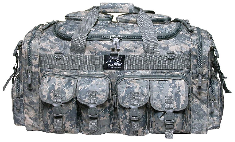 メンズ 18インチ ダッフル モール タクティカル ギア 肩掛け 旅行バッグ キーリングカラビナ付き B01LYH6RVZ  Digital Camo 30\ 30\