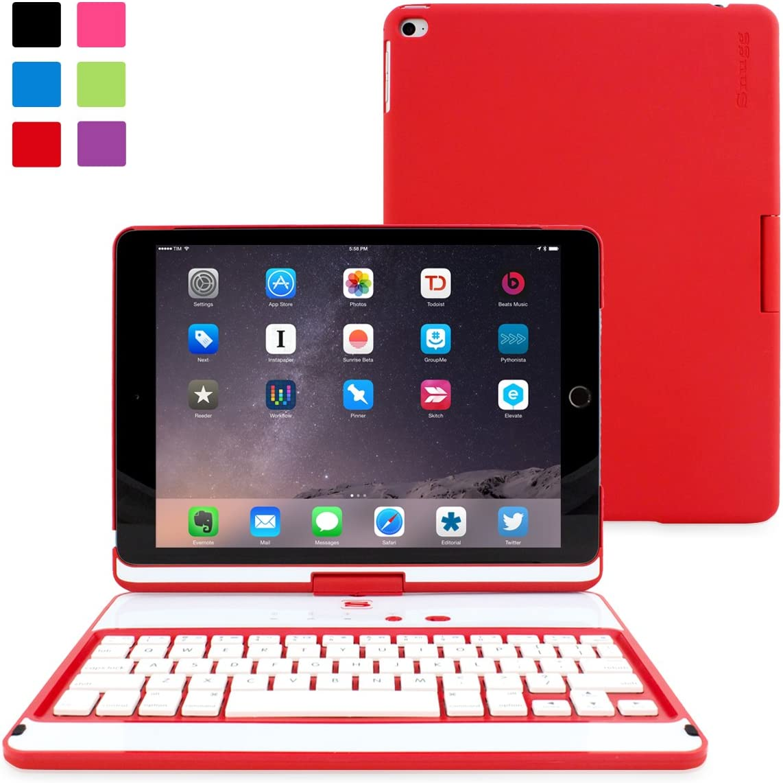 Snugg Apple iPad 9.7 (2017/2018) y iPad Air - Funda con Teclado y función Atril, Color Rojo