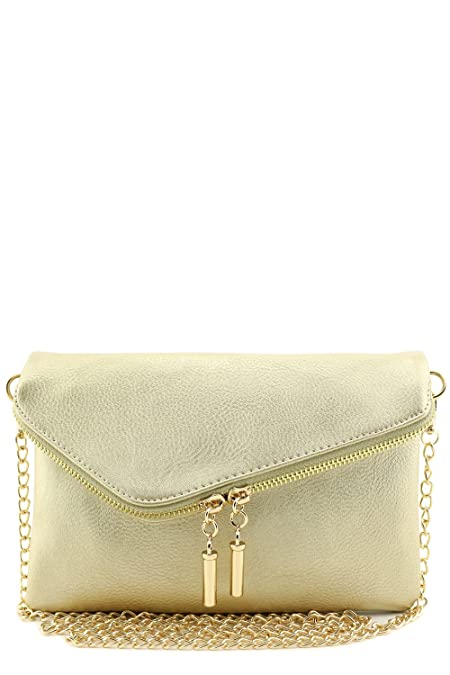new products for wide selection of colors men/man Envelope Wristlet Clutch Crossbody Bag with Chain Strap (Gold)