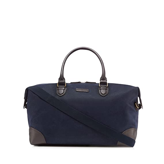 J By Jasper Conran Mens Navy Textured Holdall Bag One Size  J by ... 5e3675f58