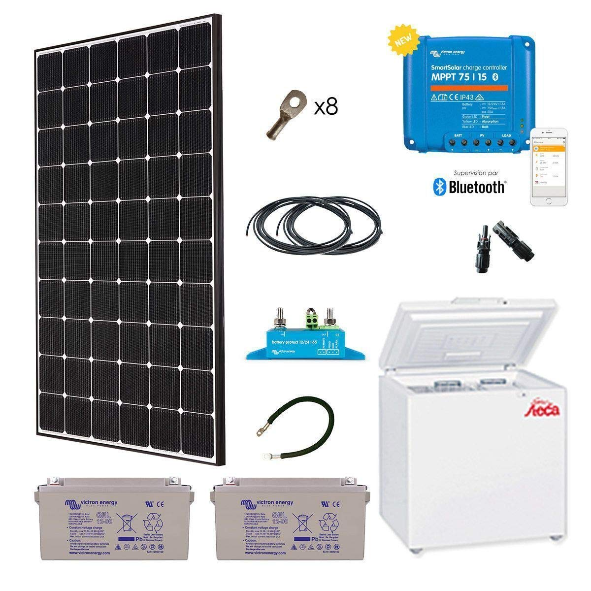 Kit Solar especial África 280 W frigorífico congelador steca 166L ...