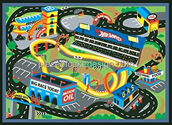 14 Sheet Hot Wheels Map From Above Birthday Edible Cakecupcake