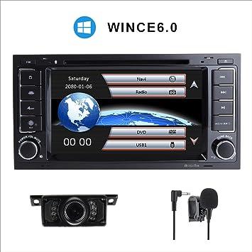 Estéreo de coche para Volksvagen Touareg con reproductor de DVD GPS Navegación Video Audio FM AM
