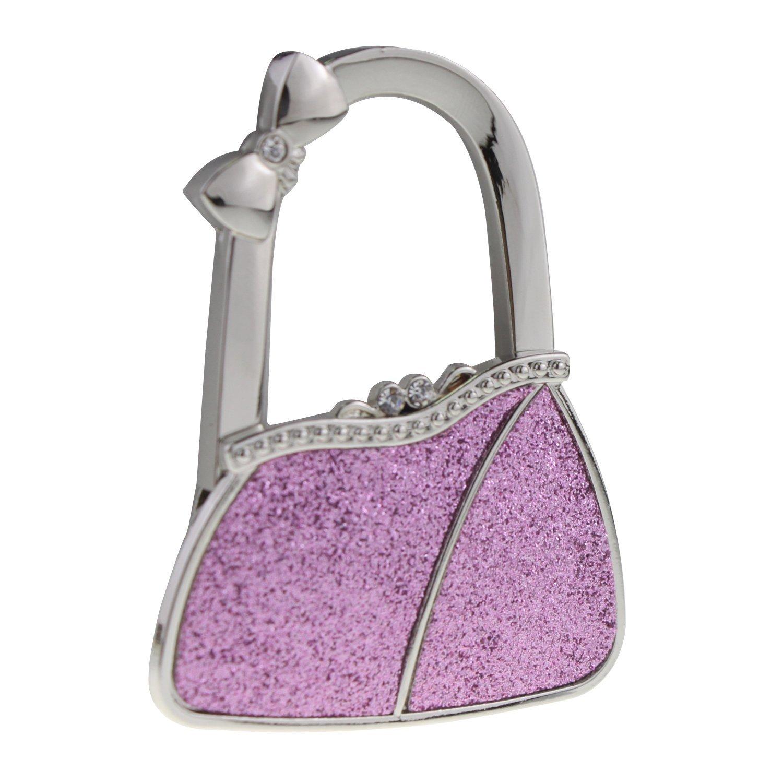 UNIQLED Shiny Handbag-Shape Womens Purse Hook Folding Handbag Hanger Bag Holder