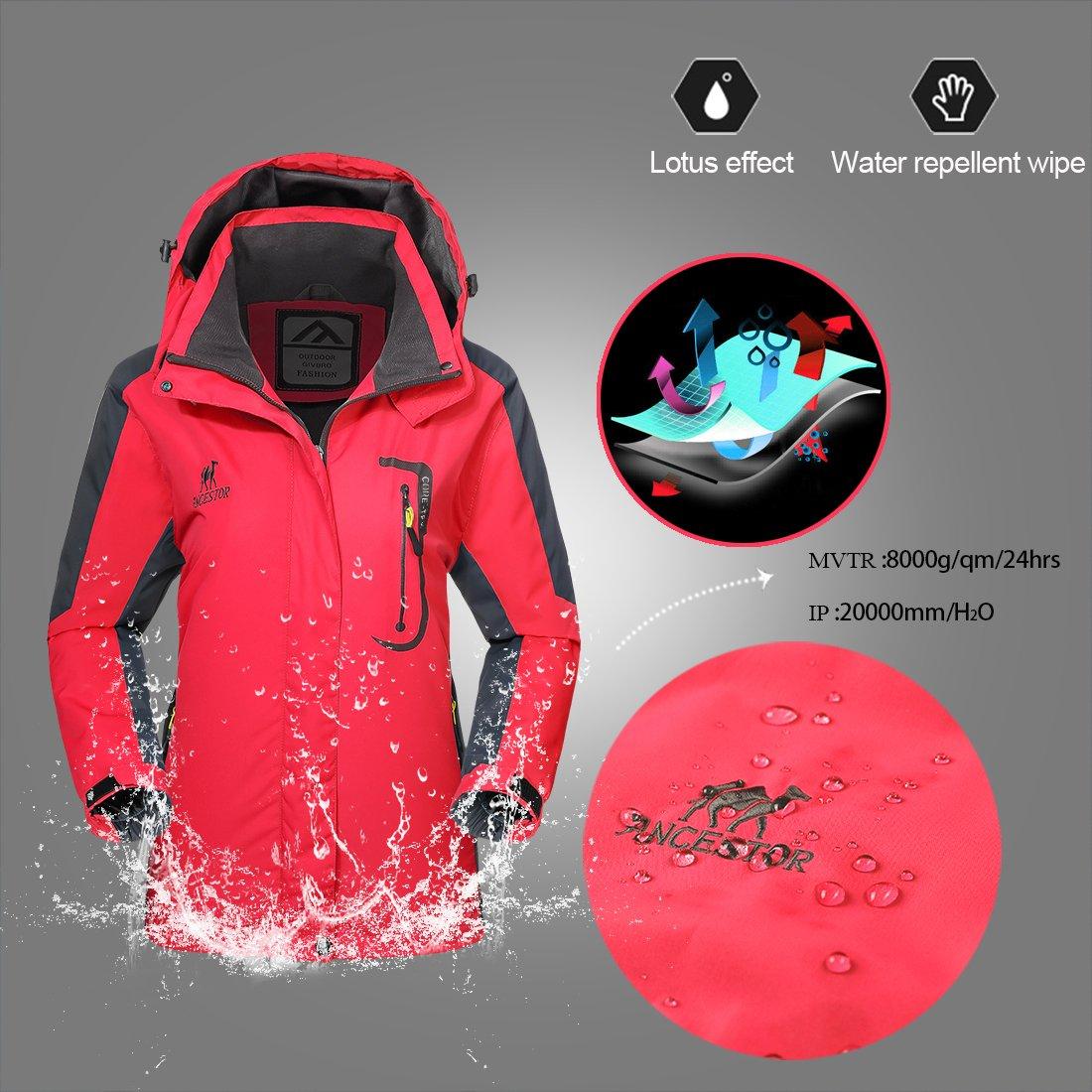 Waterproof Jacket Rain Coats for Women Outdoor Hooded Softshell Camping Hiking Mountaineer Travel Windproof Jackets