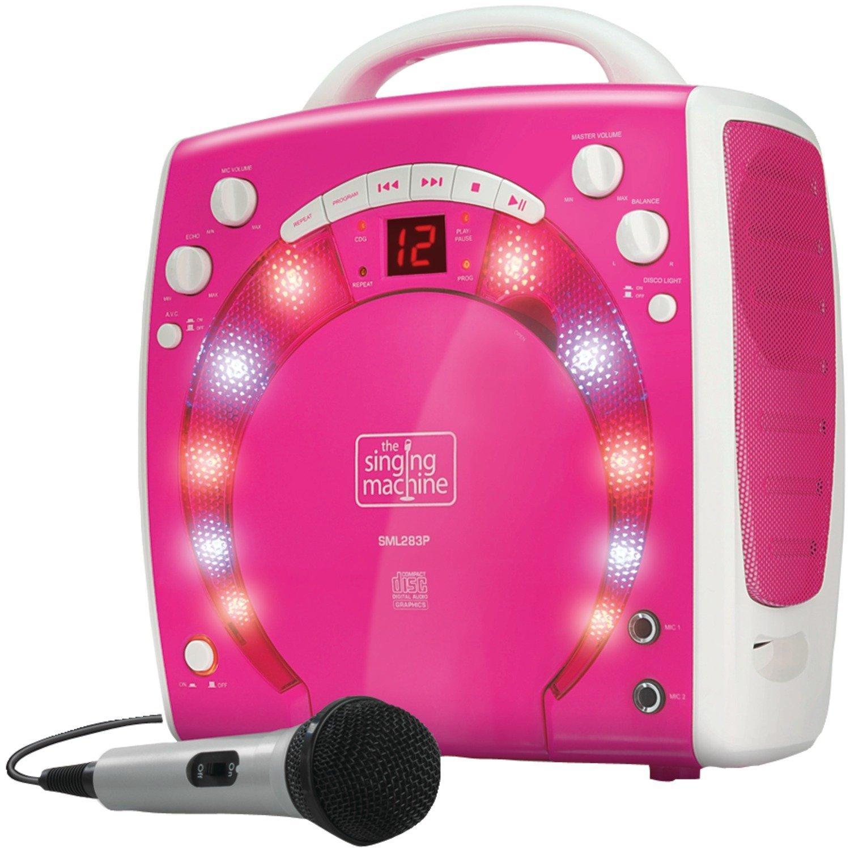 Kids Pink Karaoke Party Singing Machine Girls Portable