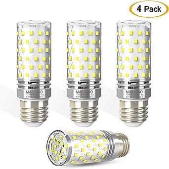 Bombillas LED E27 12W 6000K Blanco Frío LED Candelabros bombillas ...