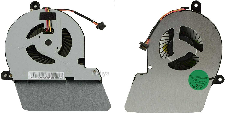 Todiys CPU Cooling Fan for Toshiba Satellite U900 U940 U945 Series U900-T02S U900-T09S U940-D4M U940-SP4102GL U945-S4110 U945-S4380 U945-ST4N02 AB07505HX07KB00 DC28000C6A0 0CWVCUAA