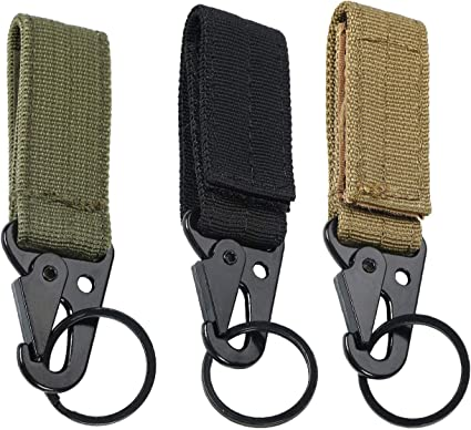 Mountaineering Molle Style Belt Carabiner Key Holder Bag Hook Buckle Strap Clip