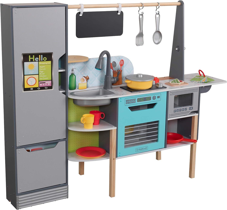Amazon Com Kidkraft Amazon Alexa Enabled 2 In 1 Kitchen Market Toys Games