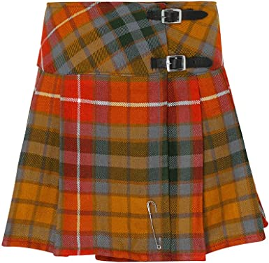 "Tartanista Womens Scottish Tartan 16.5/"" Length Mini Kilt Skirt and Pin 6-28"