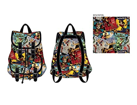 d9d4b7c391 Amazon.com   DC Comics Bombshells Print Knapsack Backpack Bookbag New    Backpacks