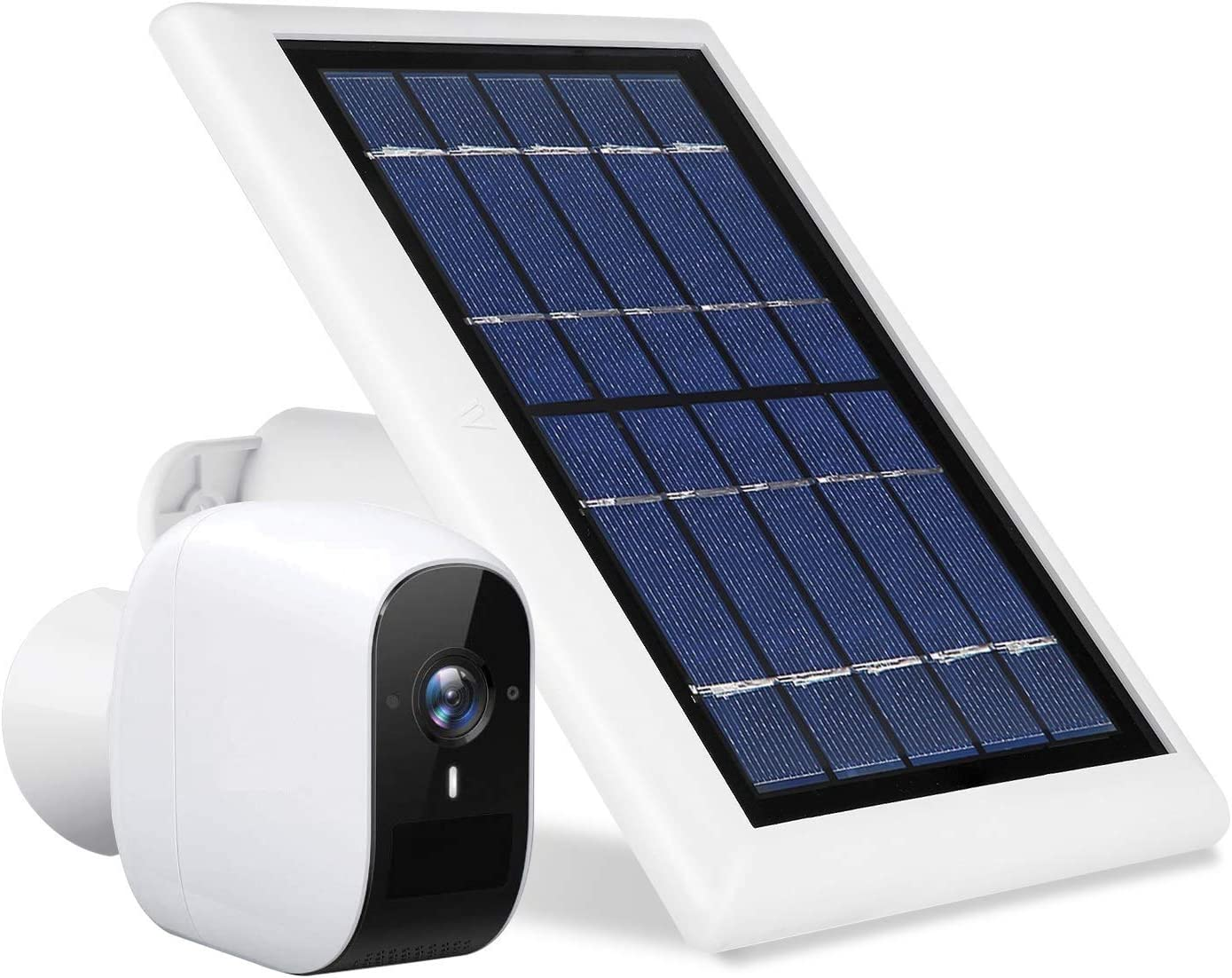 Wasserstein Solar Panel Compatible with eufyCam E Wireless Security Camera ONLY - Power Your eufyCam Surveillance Camera Continuously (White) (NOT Compatible with eufyCam 2/2C)