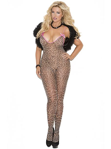 2cbee96e27c Image Unavailable. Image not available for. Color  Elegant Moments Queen  Size Leopard Bodystocking ...