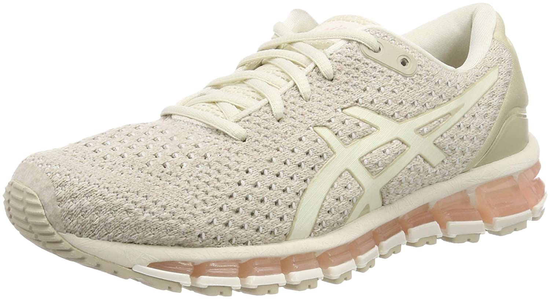 Asics Gel-Quantum 360 Knit 2, Zapatillas de Running para Mujer 38 EU|Gris (Birch/Feather Grey 200)