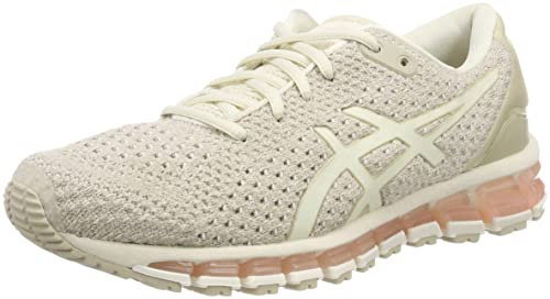 ASICS Damen Gel-Quantum 360 Knit 2 Laufschuhe, gris Clair/orange VIF/bleu  ciel