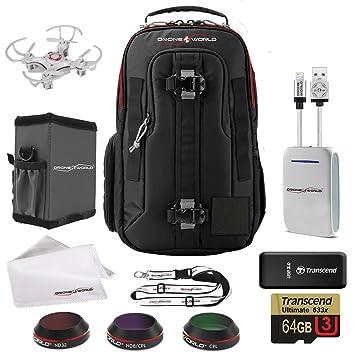 fd6b6b1c624 DJI Mavic Pro Accessories Bundle Includes LowePro Backpack, Lens Filters,  Memory Card/Reader