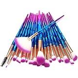 20 PCS Makeup Brushes Set Unicorn Diamond Color Foundation Eyeshadow Cosmetic Brush Blush Face Powder Eyeliner Brush
