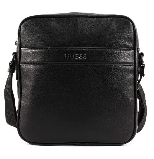 506a27264e GUESS HM6536 POL84 Shoulder belt Man Black TU  Amazon.co.uk  Shoes   Bags