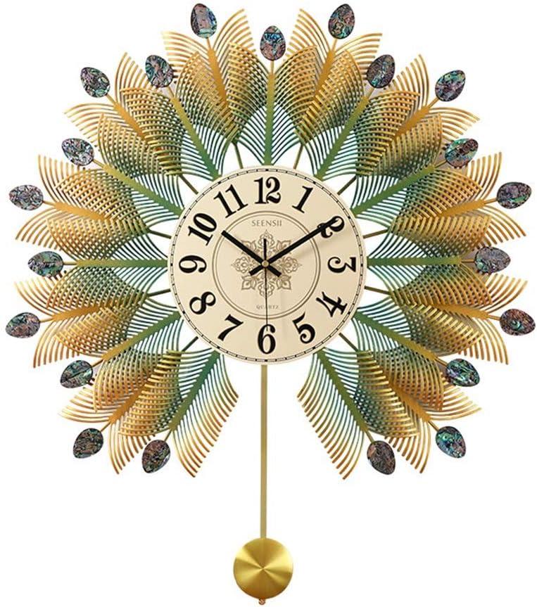 掛け時計 壁時計の金属の居間の寝室の振動時計の装飾、台所オフィスの無声防水および湿気の防止